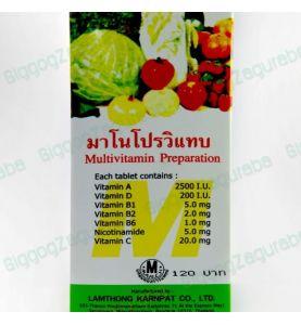 Multivitamines MANOPROVITAB 72 comprimés