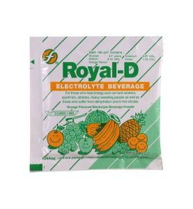 Royal-D Electrolyte Boisson gout orange 10 sachets