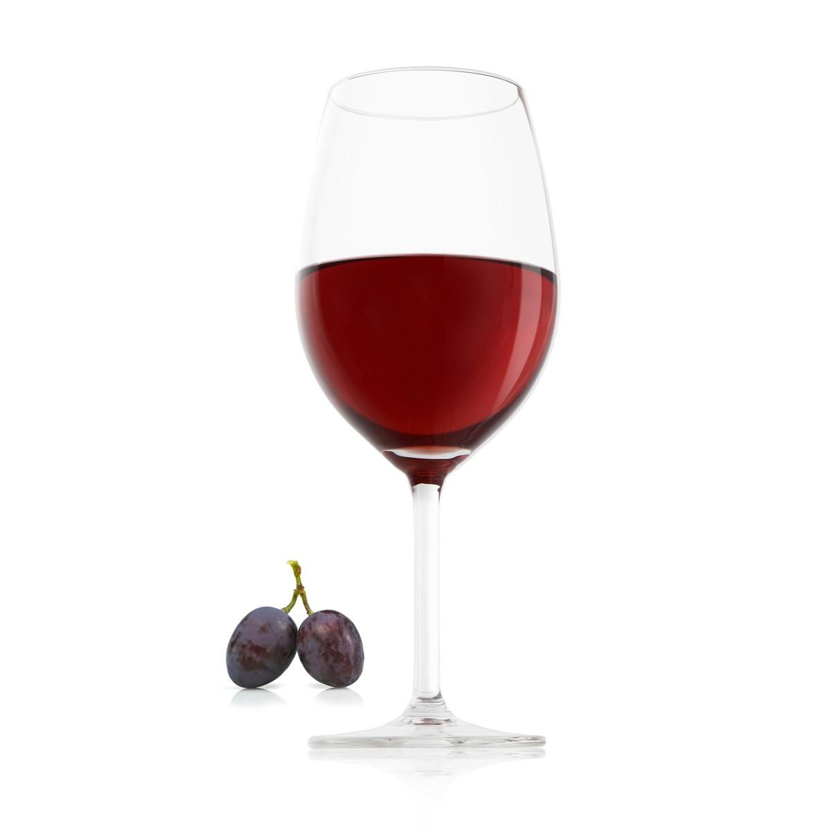 un verre de vin rouge